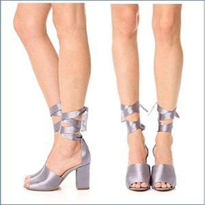 Sam Edelman Heeled Sandals Silver Odele  sz 8